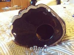 Mid-Century Royal Haeger Jet Black 20-1/2 Tall Ceramic Winking Art Deco Cat