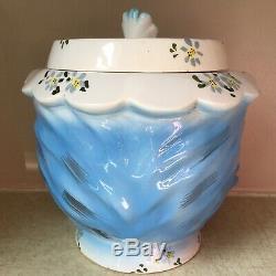 Miss Priss BLUE CAT Cookie Jar LEFTON Japan 1502 Ceramic 7 1/4 Tall VINTAGE