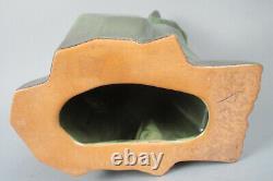 Modernist Art Deco Shearwater Pottery Sculpture Cubist Cat Ceramic Figurine #2