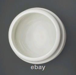 NEW Guy Degrenne White Salam Sugar Bowl & Steel Dome Porcelain Chic Retro
