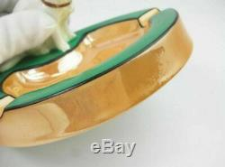 Old Noritake Art Deco lusterware Cat figure Pin tray Firurine Collection Object