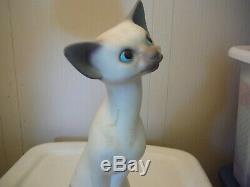 RARE! Anthony Freeman McFarlin CA Pottery Chalk Like Cat with Kittens Set 1958