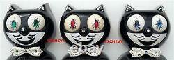 RARE VINTAGE ELECTRIC 60s MOCHA KIT CAT KLOCK-KAT CLOCK-ORIGIN MOTOR REBUILT-USA