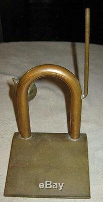 Rare Antique Art Deco Chase Industrial Art Brass Copper Cat Statue Home Doorstop