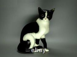 Rare Vintage Porcelain Cute Cat Figure Goebel Germany 1955-75 Ceramic Art Decor