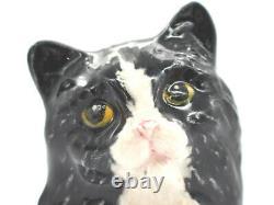 Royal Doulton Black & White Cat HN 3534 c. 1900