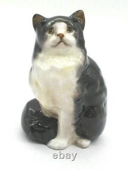 Royal Doulton Persian Black & White Cat HN999 RW 1930 1985