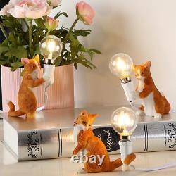 SELETTI Modern Resin Animal Cat Table Lamp Small Mini LED Desk Light Kids' Room