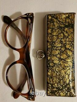 SOL MOSCOT Vintage Case & Glasses Rare Sol Moscot Case & Cats Eye glasses