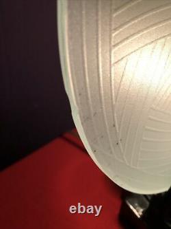 Sarsaparilla Hand Blown Glass Frankart Cat Lamp Art Deco