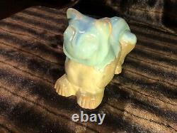Shearwater Pottery Art Deco Glazed CROUCHING CAT Statue Figure