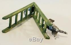 VIENNA BRONZE Miniature Figural Cat & Mouse Figurine on Ladder