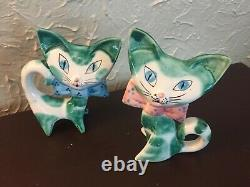 VINTAGE CALIFORNIA POTTERY CATS by Anthony Freeman Mcfarlin