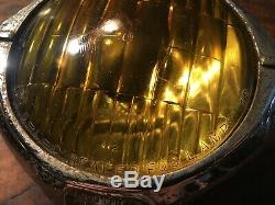 VINTAGE CATS EYE FOG LIGHT PAIR B-L-C 4-1/2 MODEL 2020A ART DECO CHEVY Rat Rod