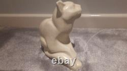 Very Rare Orchies Cat French Art Deco Craquele 1930