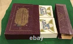 Vintage 1930s ART DECO Saks Fifth Ave 2 Sets DONDORF Playing Cards WoW Black Cat