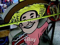 Vintage 1960's NEON MEXICAN TACO-TAMALE Guy collectible antique / ART DECO