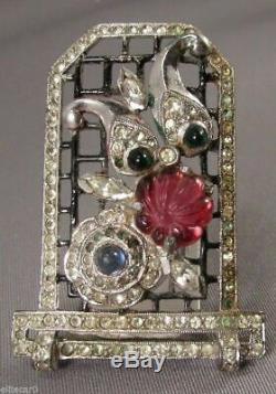 Vintage Art Deco Jewelry Fur Clip Figural Cat Brooch Pin 1930's Rare