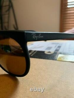 Vintage B&L Ray Ban Cats 1000 Diamond Hard withCase Matte Black Bausch & Lomb NOS
