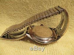 Vintage Bulova Cat Ear Lug Winding Watch Great Art Deco Band