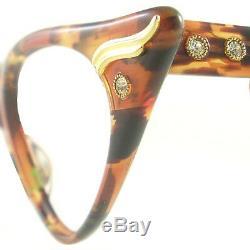 Vintage Cat Eye Glasses Eyeglasses Sunglasses New Frame Eyewear Marbled Green