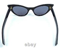 Vintage Cat Eye Sunglasses White Artistic Rare France 1950's MID Century Ladies