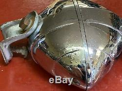 Vintage Cats Eye Fog Light Pair B-l-c 4-1/2 Model 2020a Art Deco Chevy Bomb