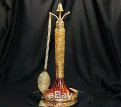 Vintage DeVilbiss Perfume Atomizer Cat # Q-4 Cranberry Luster & Gold 1925
