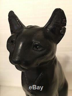 Vintage Exotic Egyptian Cat Bastet Goddess Sculpture Statue On Lucite Base 15