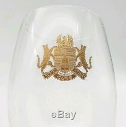 Vintage Kit Cat Club Haymarket London Etched Alcohol Drinking Glasses c1930s