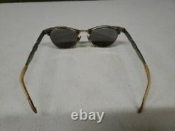 Vintage MCM Cat Eye Artcraft 1/10 12k GF Gold 22mm Eyeglasses with Case 4.5-5.75