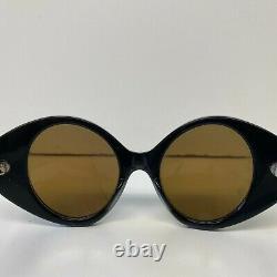 Vintage Michele Lamy Cat Eye Sunglasses Made in France 1960s Zebra Print Women's