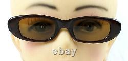 Vintage Persol Ratti Sunglasses Brevett Meflecto Cat Eye Brown Italy 1960's Rare