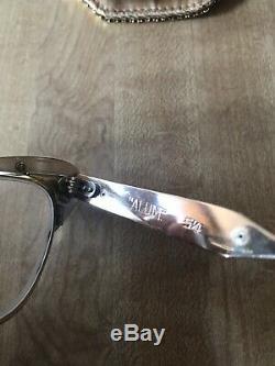 Vintage Retro Classy Rhintestone Cat Eyeglasses Gold Tone Alum 5.4
