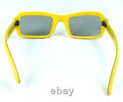 Vintage Yellow Sunglasses France Artistic Rare Mint 1950's unisex nos Cat Eye