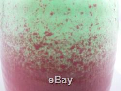Vtg Guy COWAN Pottery Pistachio Glaze Ribbed Vase Shape V-34 Pink Green Matte