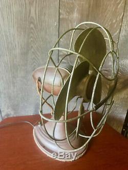 Vtg Westinghouse 2 Speed 14 Oscillating Fan Art Deco Style Cat. No. 12 LA 3 Works