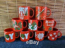 Waechtersbach Christmas (9) Mug Joy Snowflake Cat's Bear Naughty Nice Milk Santa