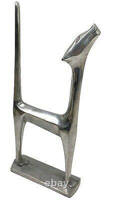 13 1976 Art Déco Aluminium Cat Sculpture Statue Signée Chris Petersen Siamese
