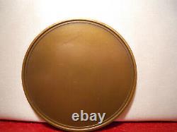 1940 Rare Médaille D'art Déco En Bronze Cats Célèbre Fable 59mm