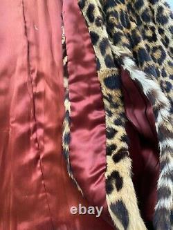 40s Vintage Cat Fur Cape Geoffroy Etole Leopard Lippi Ou Pas L'air Lynx Osfm
