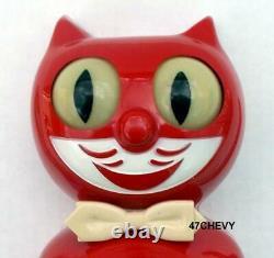 50's Antique-original-red Allied-electric-kit Cat Klock-kat Clock-vintage-works