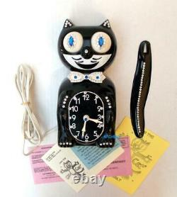 80s Électric-kit Cat Klock-kat Clock- Blue Eyes-vintage-original Motor-re-built