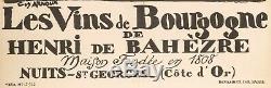 Affiche Vintage Originale Guy Arnoux Vin De Bourgogne Nuits Saint Georges -1930