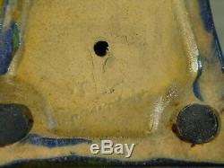 Alphonse Cytère Rambervillers C1931 Iridescent Luster Glaze Art Céramique Chat Sgnd