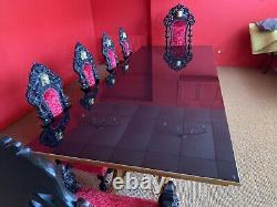 Amazing 12ft Christopher Guy Designer Art Deco Table De Style Français Poli