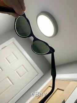 Ancien American Optical Art Deco Femmes Lunettes 4-5 1/2 46 19 Cat Eye