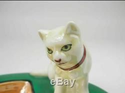Ancien Noritake Art Déco Lustrée Figure Cat Plateau Pin Firurine Collection D'objets
