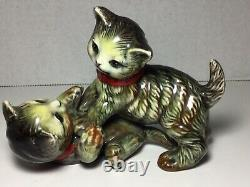 Ancienne Porcelaine De Newcomb Figurine De Chat