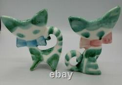 Anthony Freeman Mcfarlin California Pottery Ou Lipper Mann Style Flat Face Cats